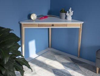 ASHME Corner Desk 114x85x85cm - White
