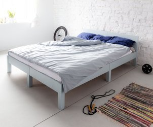 DABI Bed W 140cm x L 200 cm / Light Grey