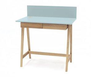 LUKA Ashwood Writing Desk 85x50cm with Drawer / Light Turquoise