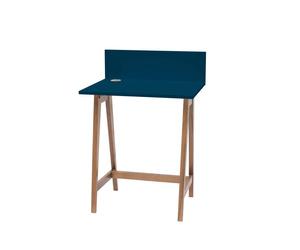 LUKA Writing Desk 65x50cm Oak / Petrol Blue
