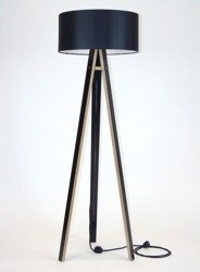 WANDA Floor Lamp 45x140cm - Black / Black Lampshade / Black