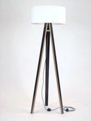 WANDA Floor Lamp 45x140cm - Black / White Lampshade / Zig-zag