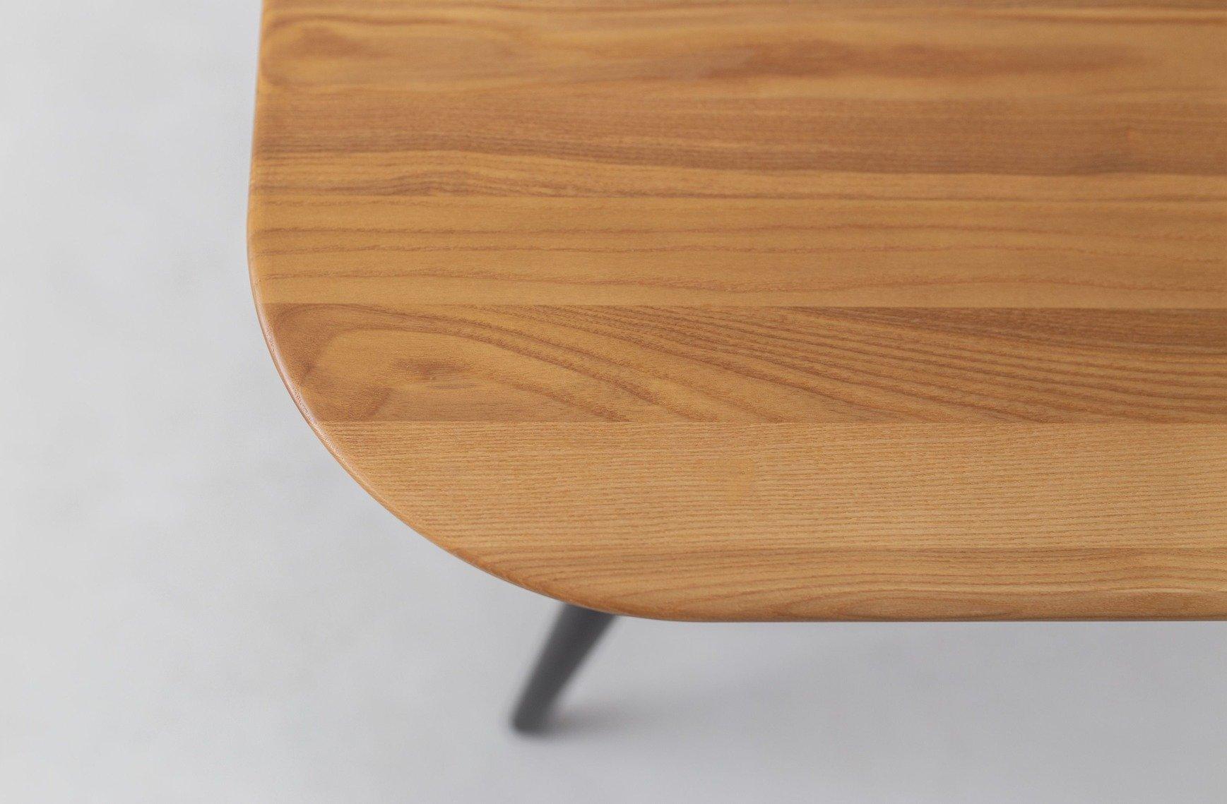 CONTRAST Dining Table 9x9x9cm   Oak / Black Legs