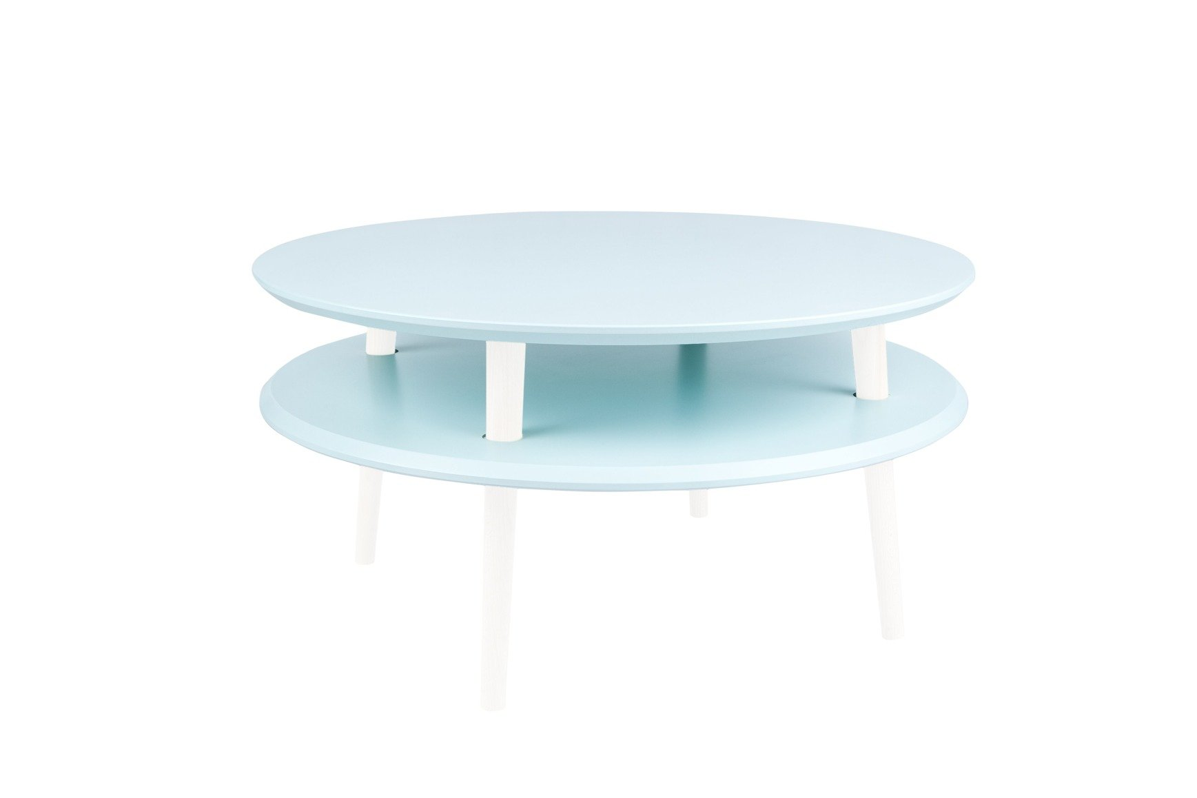 Ufo Coffee Table Diam 70cm X Height 35cm Light Turquoise White Ragaba De