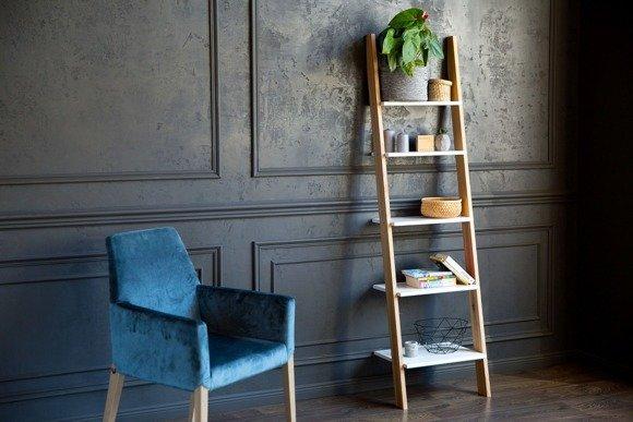 ASHME Ladder Shelf 45x35x180cm - White