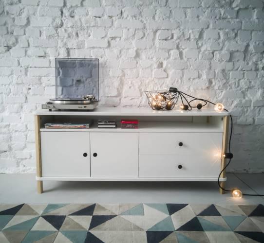 ASHME TV Sideboard 140x45x60cm - White