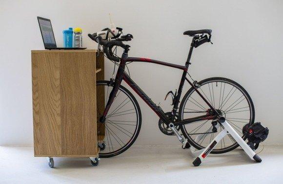 Bike Trainer Cabinet - Oak