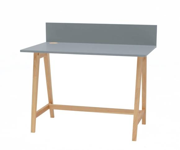 LUKA Ashwood Writing Desk 110x50cm / Dark Grey
