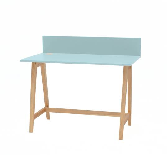 LUKA Ashwood Writing Desk 110x50cm / Light Turquoise