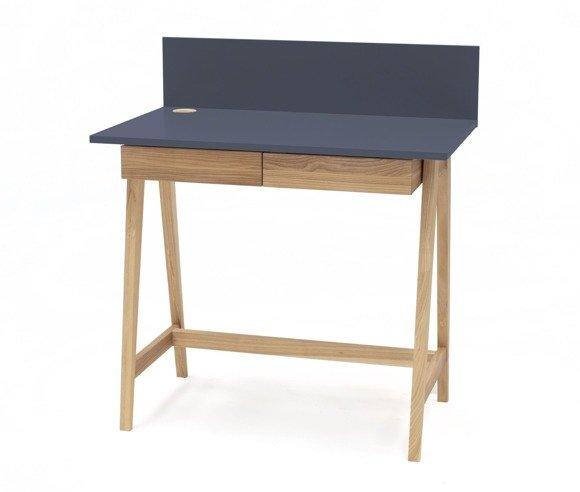 LUKA Ashwood Writing Desk 110x50cm with Drawer / Graphite