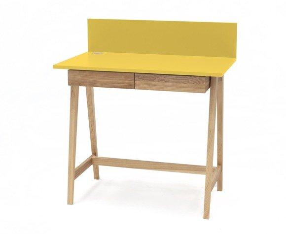 LUKA Ashwood Writing Desk 110x50cm with Drawer / Yellow