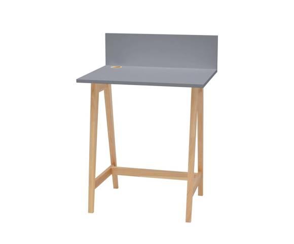LUKA Ashwood Writing Desk 65x50cm / Dark Grey
