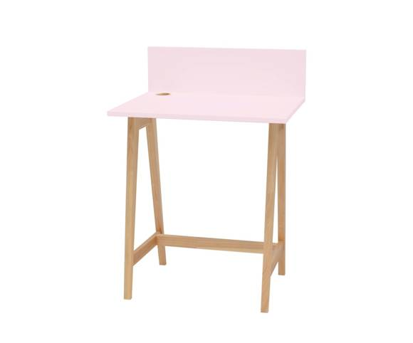 LUKA Ashwood Writing Desk 65x50cm / Dusky Pink