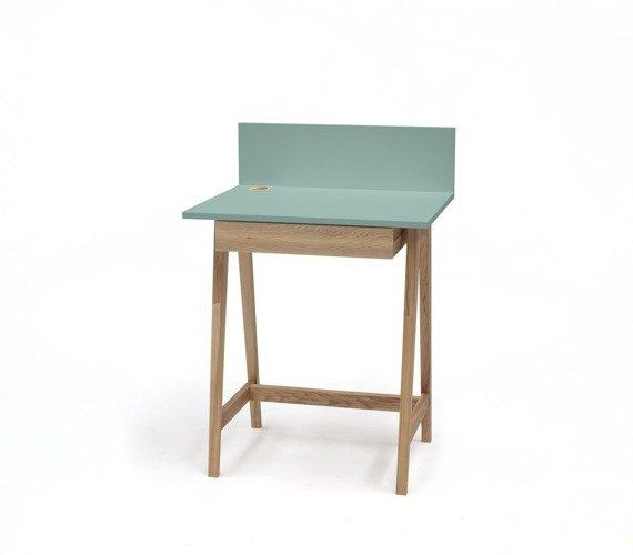 LUKA Ashwood Writing Desk 65x50cm with Drawer / Mint