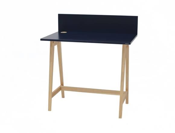LUKA Ashwood Writing Desk 85x50cm / Petrol Blue