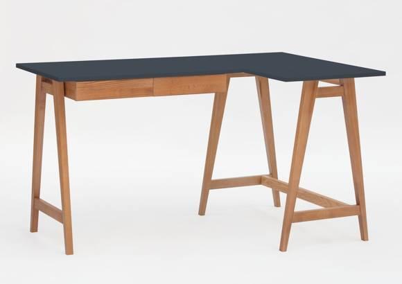 LUKA Corner Desk W 135cm x D 85cm / Graphite Oak Right Side