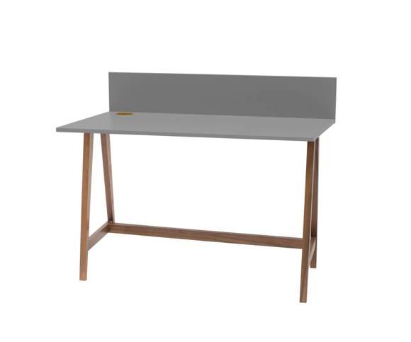 LUKA Writing Desk 110x50cm Oak / Dark Grey