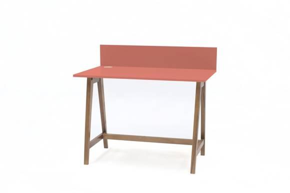 LUKA Writing Desk 110x50cm Oak / Living Coral