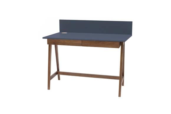 LUKA Writing Desk 110x50cm with Drawer Oak  / Graphite