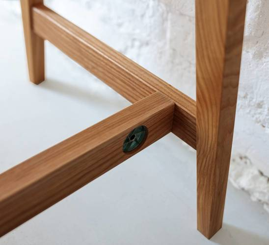LUKA Writing Desk 65x50cm with Drawer Oak / Navy Blue