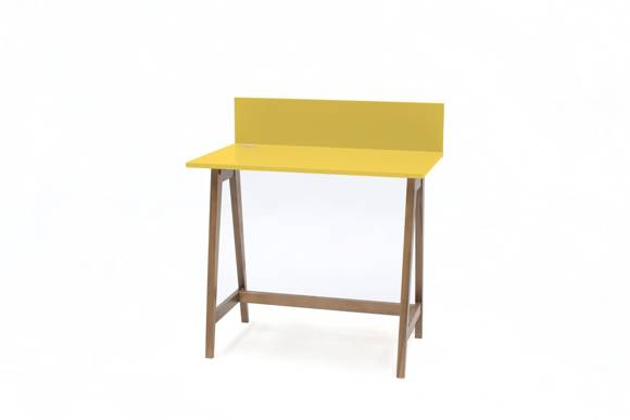 LUKA Writing Desk 85x50cm Oak / Yellow