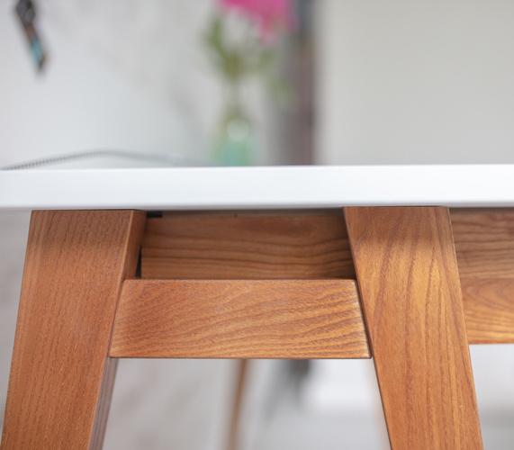 LUKA Writing Desk 85x50cm with Drawer Oak / Light Grey