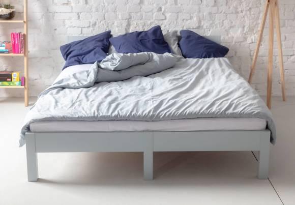 DABI Bett B 160 cm x L 200 cm / Weiß