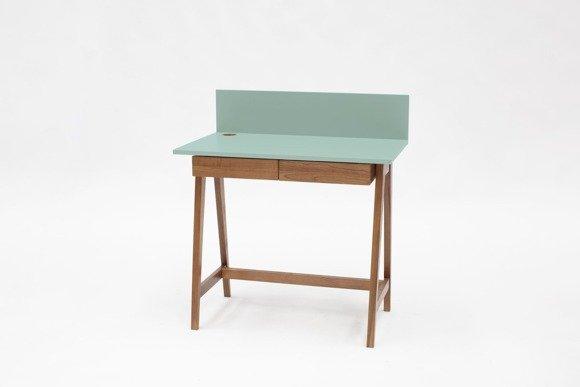 LUKA Schreibtisch 85x50cm mit Schublade Eiche / Minze