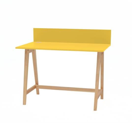 Luka Eschenholz Schreibtisch 110x50cm / Gelb