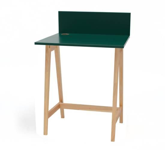 Luka Eschenholz Schreibtisch 65x50cm / Flaschengrün