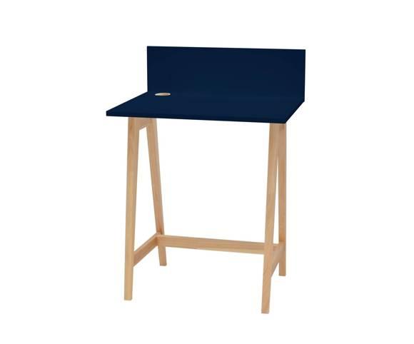 Luka Eschenholz Schreibtisch 65x50cm / Marineblau