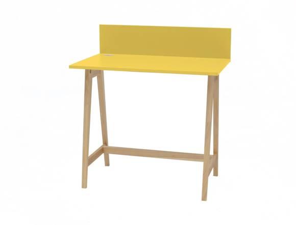 Luka Eschenholz Schreibtisch 85x50cm / Gelb