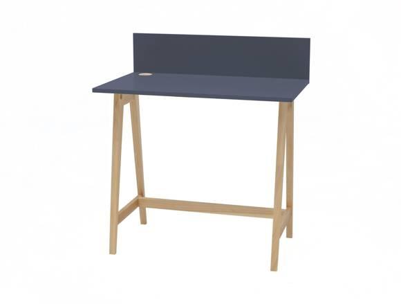 Luka Eschenholz Schreibtisch 85x50cm  / Graphit