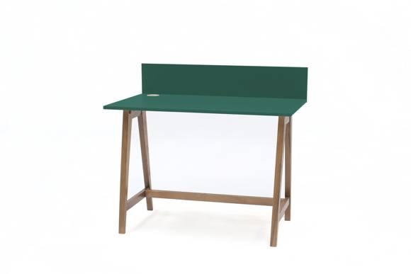 Luka Schreibtisch 110x50cm Eiche / Flaschengrün