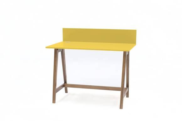 Luka Schreibtisch 110x50cm Eiche / Gelb