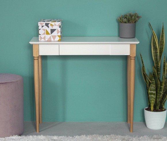 MAMO Schreibtisch 105x40cm - Weiß